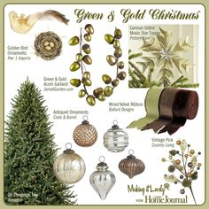 1000 images about green and gold christmas on pinterest for Green and gold christmas tree