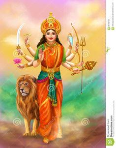 Goddess Durga stock illustration. Image of egyptian, devi - 86762145