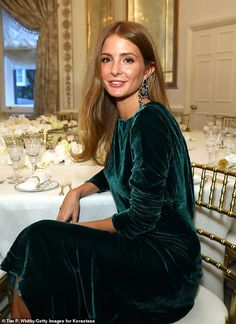 Millie Mackintosh oozes glamour in forest green velvet dress Millie Mackintosh Hair Colour, Modest Dresses, Trendy Dresses, Millie Macintosh, Winter Wedding Outfits, Hijab Style Dress, Green Velvet Dress, Dress Makeup, Classy Outfits