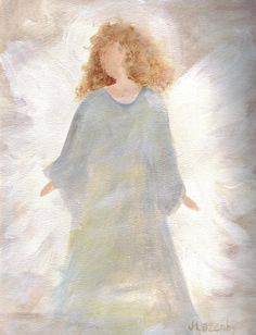 Image result for christmas angels painted christmas cards