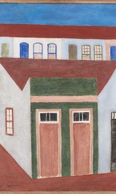 Fachada. Década de 1950. Alfredo Volpi (1896-1988). Pintor ítalo-brasileiro.