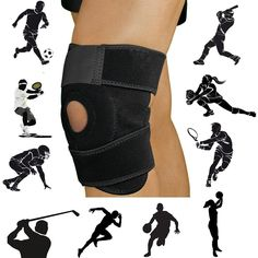Knee Support Brace Fully Adjustable with Velcro Kneecap Patella and Lateral Stabilizers, For Sport's Work and Leisure