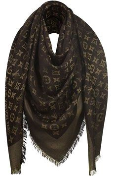 Auth Louis Vuitton Black With Gold Monogram Large Shawl/ Scarf. Get the lowest price on Auth Louis Vuitton Black With Gold Monogram Large Shawl/ Scarf and other fabulous designer clothing and accessories! Shop Tradesy now