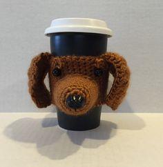 Dachshund Mug Cozy/Dog Mug Cozy/Dog Coffee Sleeve/Custom Dog Mug/Gift for Dachshund Lover - pinned by pin4etsy.com