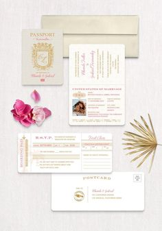 Invite guests to fly away with you on a once in a lifetime adventure! This passport invitation is sure to get your guest excited about your destination wedding. Destination Wedding Save The Dates, Destination Wedding Inspiration, Destination Wedding Invitations, Wedding Stationery, Passport Invitations, Invitation Wording, Party Invitations, Invite, Addressing Envelopes