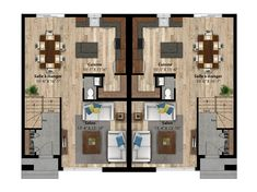 Résultats de recherche d'images pour «plan cottage jumelé» Cottage, Images, Floor Plans, Searching, Cabin, Cottages, Floor Plan Drawing