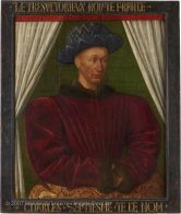 Charles VII (1403-1461), King of France, by Jean Fouquet, c. 1445-50 (Tours). Louvre, Paris