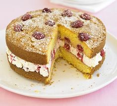 Raspberry & lemon polenta cake recipe - Recipes - BBC Good Food
