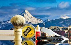 Proraso Wood and Spice shave soap, Plisson badger brush, Kai folding shavette razor, Cella aftershave, March 18, 2018.  ©Sarimento1