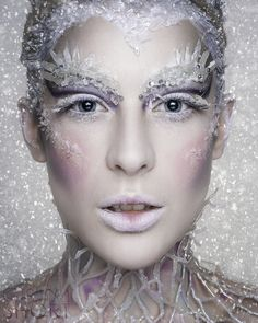 Pin by danyeil durrant on winter makeup snow queen makeup, ice queen makeup Costume Halloween, Halloween Makeup, Halloween Face, Pantomime, Snow Queen Makeup, Snow Makeup, Ice Makeup, Ice Queen Costume, Fantasy Make Up