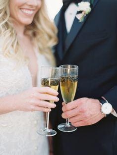 Photography : Allen Tsai Photography   Tuxedo : Culwell & Son   Wedding Dress  : Berta Read More on SMP: http://www.stylemepretty.com/2016/12/26/winter-wedding-inspo/