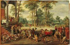 ヤン・ブリューゲル (子) (Jan Brueghel de Jonge)「Satire on Tulip Mania」
