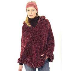 Bulky+Knit+Poncho+Pattern | Free Bohemian Poncho Knit Pattern