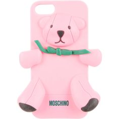Pre-owned Moschino Teddy Bear iPhone 5 Case ($50) ❤ liked on Polyvore featuring accessories, tech accessories, pink and moschino
