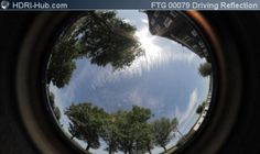 HDRI Hub Stock Footage Video - Fisheye view of sky while driving with a car. Useful as dynamic reflection map for renderings.