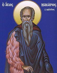 Macarius, the Great of Egypt (Feast day: January) Byzantine Icons, Byzantine Art, Early Christian, Christian Art, Natural Man, Catholic Saints, Orthodox Icons, I Icon, Christianity