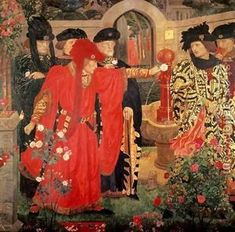 Choosing the Red and White Roses - Gallowglass refers to the War of the Roses when talking to Matthew - they apparently were involved in getting Henry VII his throne