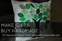 make gifts & buy handmade - 16 ideas for homemade Christmas gifts from @Nicole Bennett