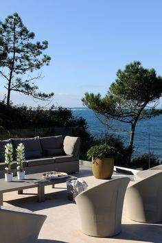 vue bassin d'arcachon- maison de luxe- pyla sur mer- vue banc d'Arguin