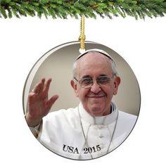 Lenox Pope Francis Commemorative Ornament | Christmas Ornaments ...