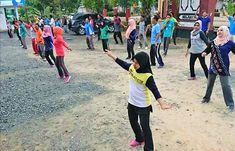 Sadar Kesehatan, Kecamatan Sungai Loban Rutin Senam Bersama