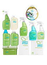 105519 - Legacy of Clean™ Intro Bundle  Ultra concentrated 100% natural products save you about 12% on your monthly grocery shopping list. Plus they don't smell gross <3