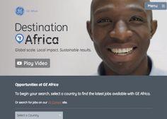 GE Africa #webdesign #inspiration #UI
