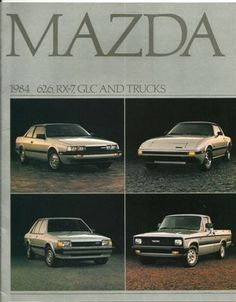 Mazda 1984 626, RX-7, GLC and Truck  Brochure -  Vintage New Automobile Sales Brochure. $5.75, via Etsy.