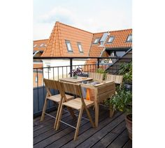 Cinas Dry under Havebord - Teak - Smart tørrestativ