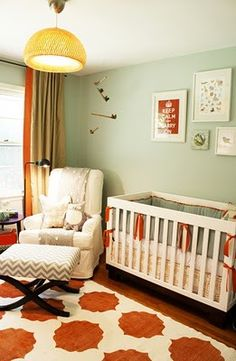 so obsessed with this nursery for a little boy! loving the orange http://media-cache6.pinterest.com/upload/154037249724506880_VyEI4oU6_f.jpg molly323 baby fever