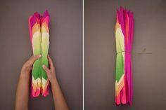 Dobrando as folhas de papel creopm