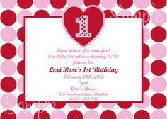 Valentine Birthday Invitations