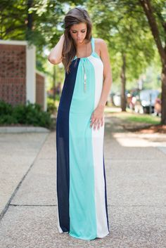 Stay In Your Lane Maxi Dress - The Mint Julep Boutique