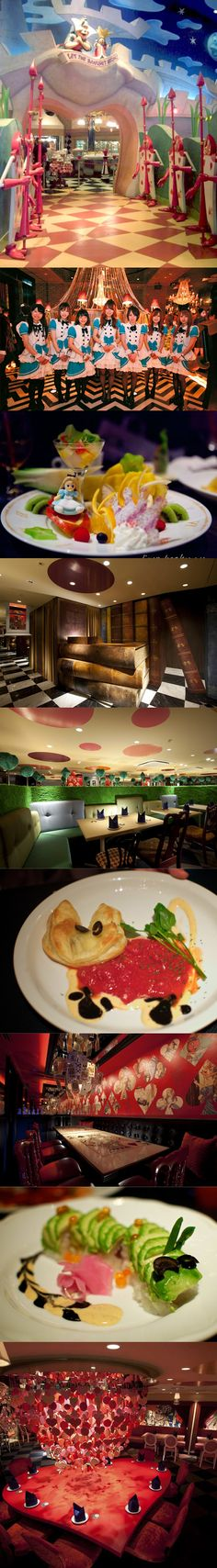 {FOOD} Alice in (Fantasy Book) Wonderland Themed Restaurant, Tokyo.