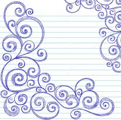 Sketchy Swirls Notebook Doodles Vector royalty-free sketchy swirls notebook doodles vector stock vector art & more images of abstract Doodles Zentangles, Zentangle Patterns, Embroidery Patterns, Quilt Patterns, Origami Fashion, Doodle Drawings, Doodle Art, Notebook Doodles, Notebook Paper