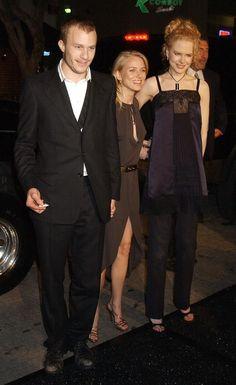 Heath Ledger, Naomi Watts, and Nicole Kidman, October 2002