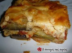 I saw this recipe a few days ago in the morning shows of prepared by Argyro and I thought of giving it a try. I was speechless! I have never had a tastier pastitsio! It is absolutely awesome! Greek Recipes, Veggie Recipes, Cooking Recipes, Cyprus Food, Greek Cooking, Greek Dishes, Fast Dinners, Sandwiches, Recipe Images