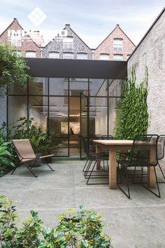 Terrace Tiles, Patio Tiles, Outdoor Spaces, Outdoor Living, Minimalist Garden, Interior Garden, Terrace Garden, Small Patio, Garden Inspiration