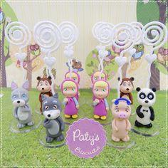 Porta recados Masha e o Urso -   Festa infantil - Paty's Biscuit