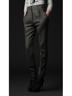 Wool Tailored Suit Pant