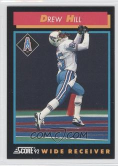 Football Trading Cards, Football Cards, Football Team, Baseball Cards, Houston Oilers, American Football League, Wide Receiver, Vintage Football, Tennessee Titans