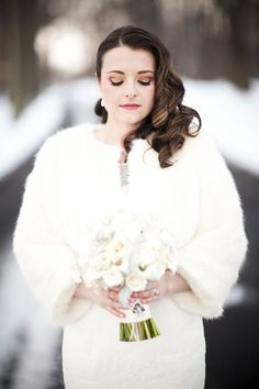 Don't be afraid of cold weather! Your wedding will be adorable – just dress up everyone and everything. Cable knit sweaters for you, your groom...
