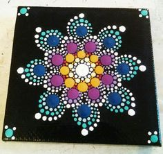 Colorful Dot Art Flower Mandala Original Hand door P4MirandaPitrone
