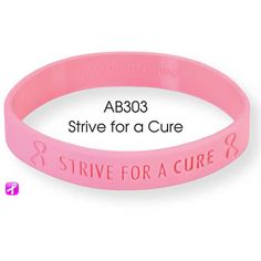 Great & Easy way to Show Support Handout Breast Cancer Awareness Silicone Bracelet $0.58/each | Pink Silicone Bracelet | Breast Cancer Bracelet