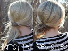 115 Hair Tips, Tricks, and Tutorials - This is so much better than the traditional topsy tail!
