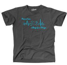 THEART T-Shirt HEARTBEAT FLIEGEN mein Herz Flugzeug Flieger Siviwonder