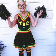 "Baddie Winkle in my ""Go Big Green"" costume designed for Dolls Kill"