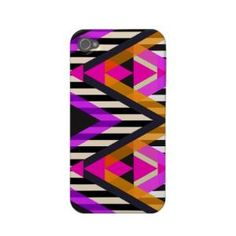 Pink Zigzag Pop Aztec Iphone 4 Case-mate Cases from Zazzle.com