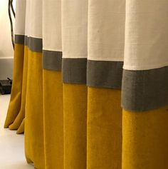 Living Room Decor Curtains, Home Curtains, Curtains With Blinds, Blinds For Windows, Window Curtains, Striped Curtains, Shop Windows, Curtain Styles, Curtain Designs