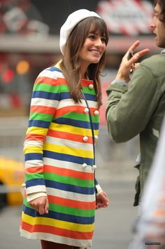 This has always been my favorite Rachel outfit on #Glee. Absolutely love. <3 I want that coat!